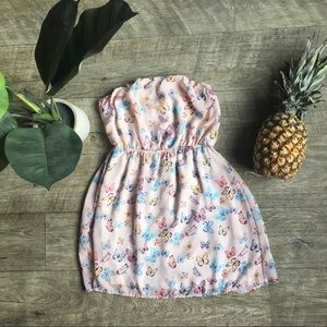 Charlotte Russe Strapless Butterfly Dress